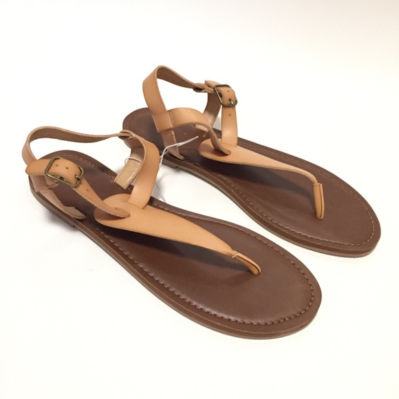 Women/'s Lady T Strap Sandals Universal Thread Brown Shoes